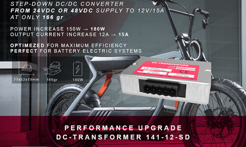 Performance Upgrade - Demke DC-Transformer 141-12-SD - Non-isolated step-down DC/DC Converter - 12V 15A