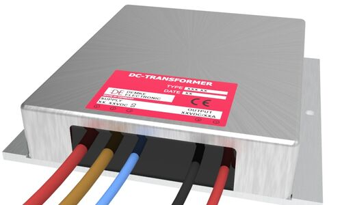 isolated DC/DC buck-boost converter Typ DC-Transformer 729-57-SD with output voltage 57.0V, 450 watts and input voltage 12V to 16V