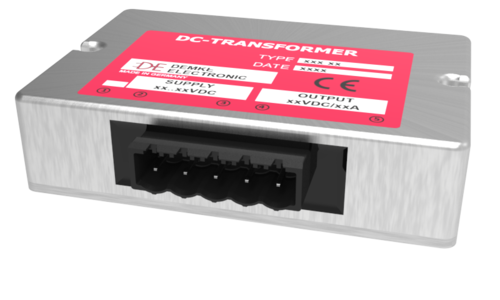 non-isolated DC/DC buck converter Typ DC-Transformer 141E-13.8-SD with output voltage 13.8V, 180 watts and input voltage 16V to 58V