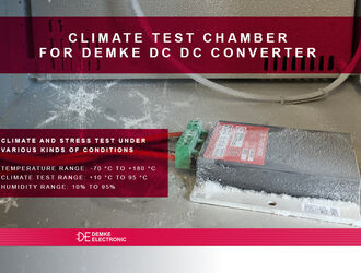 Climate and stress test for Demke DC DC Wandler