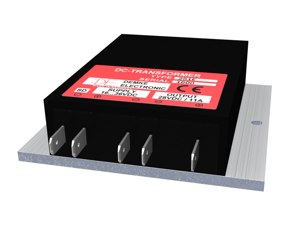 non-isolated DC/DC buck-boost converter Typ DC-Transformer 251E-28-SD with output voltage 28.0V, 300 watts and input voltage 16V to 36V